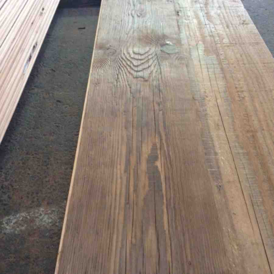 antiqued Douglas Fir flooring