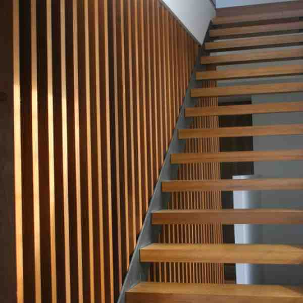 Blackbutt staircase and screening