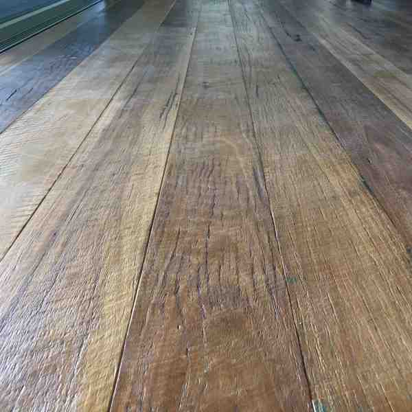 Sawn wirebrushed Spotted gum flooring