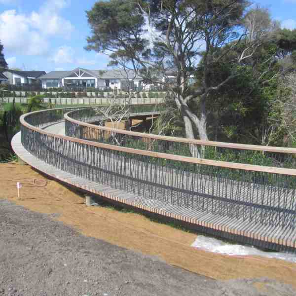Bluegum timber tread battens and handrails
